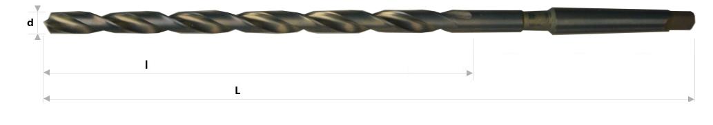 AB Grąžtai - Ypatingai ilgi spiraliniai grąžtai su Morzės kūgio kotu DIN 1870