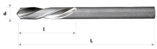 AB Grąžtai -  Trumpieji spiraliniai grąžtai DIN 1897 LN