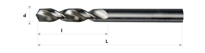 AB Grąžtai -  Trumpieji spiraliniai grąžtai DIN 1897 RW