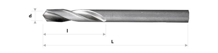 AB Grąžtai -  Trumpieji spiraliniai grąžtai DIN 1897