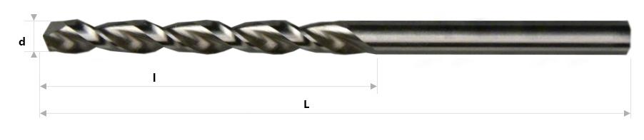 AB Grąžtai - Spiraliniai grąžtai DIN 338 GT-100