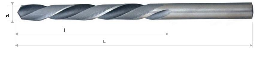 AB Grąžtai -  Spiraliniai grąžtai DIN 338 LN