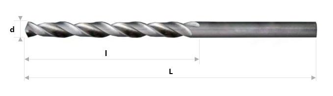 AB Grąžtai - Spiraliniai grąžtai DIN 338 Ti