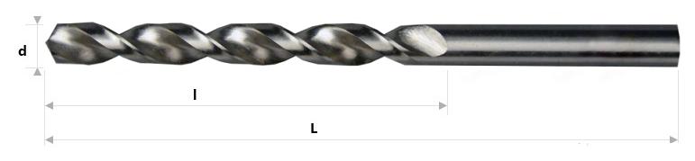 AB Grąžtai -  Spiraliniai grąžtai DIN 338 RW