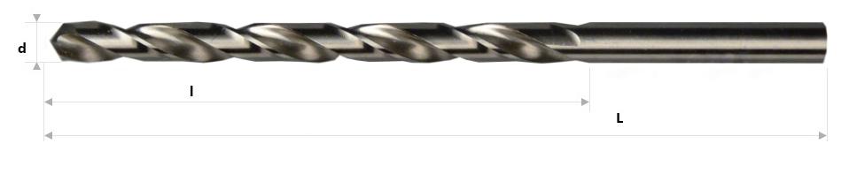 AB Grąžtai - Pailginti spiraliniai grąžtai DIN 339