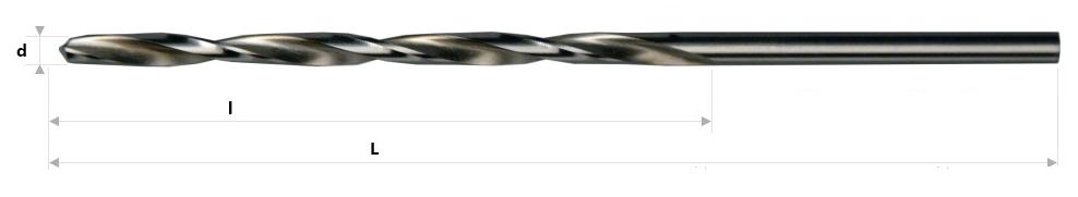 AB Grąžtai -  Ilgieji spiraliniai grąžtai DIN 340 RH