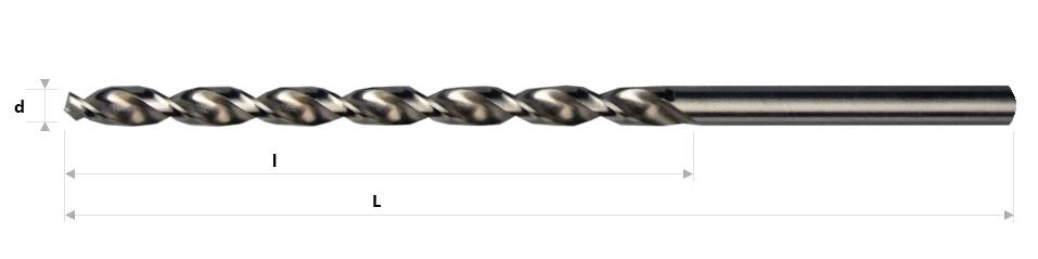 AB Grąžtai - Ilgieji spiraliniai grąžtai DIN 340 RW