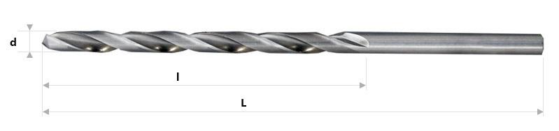 AB Grąžtai -  Ilgieji spiraliniai grąžtai DIN 340 RN