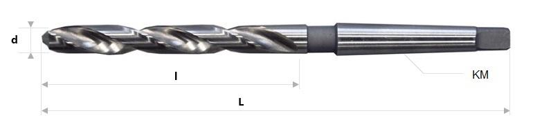 AB Grąžtai - Spiraliniai grąžtai su Morzės kūgio kotu DIN 345