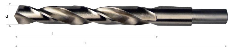 AB Grąžtai - Spiraliniai grąžtai nutekintu cilindriniu kotu