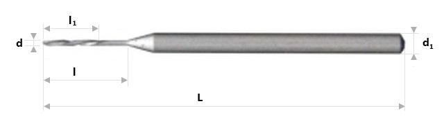 AB Grąžtai - Smulkūs spiraliniai grąžtai su pastorintu kotu
